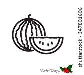 web line icon. watermelon | Shutterstock .eps vector #347801606
