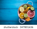 Vibrant Citrus Half Cut Fruits...