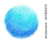bright blue pastel crayon spot  ... | Shutterstock . vector #347806373