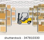 the loader is in a large light... | Shutterstock .eps vector #347810330