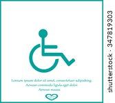 disabled icon | Shutterstock .eps vector #347819303