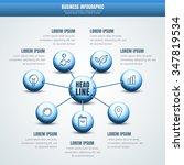 vector business infographic.... | Shutterstock .eps vector #347819534