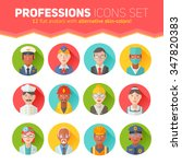 set of flat portraits icons... | Shutterstock .eps vector #347820383