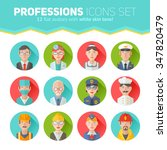 set of flat portraits icons... | Shutterstock .eps vector #347820479