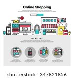 one page web design template... | Shutterstock .eps vector #347821856