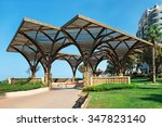 Wooden Pergolas On The...
