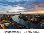 bangkok city at twilight in... | Shutterstock . vector #347824868
