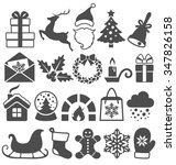 set of christmas winter flat... | Shutterstock .eps vector #347826158