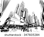 city hand drawn unique... | Shutterstock .eps vector #347835284