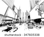 city hand drawn unique... | Shutterstock .eps vector #347835338