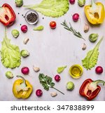 delicious assortment of farm... | Shutterstock . vector #347838899