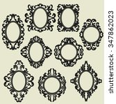 set of vintage frames  various... | Shutterstock .eps vector #347862023
