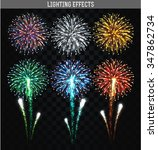 Set Of 6 Realistic Fireworks...