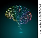 multicolored brain connections  ... | Shutterstock .eps vector #347864369