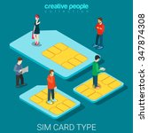 Sim Card Type Size Flat 3d...