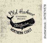 hand made illustration sail set ...   Shutterstock .eps vector #347874578