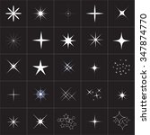 big collection of sparkle...   Shutterstock .eps vector #347874770