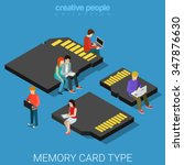 memory card type size flat 3d... | Shutterstock .eps vector #347876630