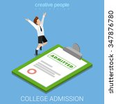 college school admission letter ... | Shutterstock .eps vector #347876780