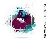 vector watercolor background.... | Shutterstock .eps vector #347876873