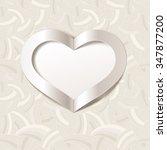 valentine's day or wedding... | Shutterstock .eps vector #347877200