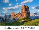 sunset in dolomites mountains... | Shutterstock . vector #347878868