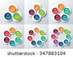 vector circle infographic.... | Shutterstock .eps vector #347883104