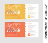 two gift cards design. | Shutterstock .eps vector #347883269
