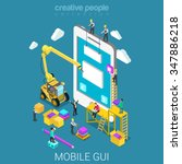 mobile gui prototype flat 3d...