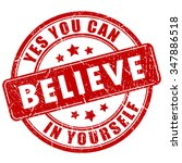 believe in yourself ... | Shutterstock .eps vector #347886518