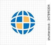 icon of schematic earth globe | Shutterstock .eps vector #347890304