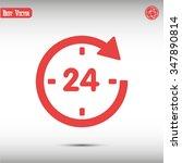 24 vector icon | Shutterstock .eps vector #347890814
