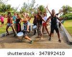 saint pierre  reunion island ... | Shutterstock . vector #347892410