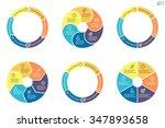 circular diagrams. flat charts  ... | Shutterstock .eps vector #347893658