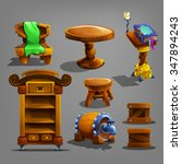 set of cartoon furnitures....