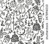 christmas pattern christmas... | Shutterstock .eps vector #347896010