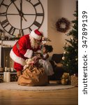 santa claus with child at home. ... | Shutterstock . vector #347899139
