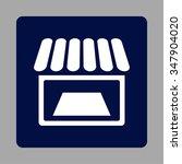 supermarket vector icon. style... | Shutterstock .eps vector #347904020