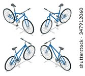 bicycle eco transport isolated... | Shutterstock .eps vector #347912060