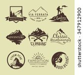 set of vintage labels on the... | Shutterstock .eps vector #347912900