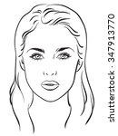 beautiful woman portrait. face... | Shutterstock .eps vector #347913770