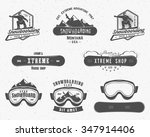 set of snowboarding extreme... | Shutterstock .eps vector #347914406