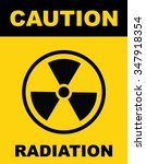 the radiation icon . radiation... | Shutterstock .eps vector #347918354