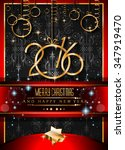 2016 merry christmas and happy... | Shutterstock .eps vector #347919470