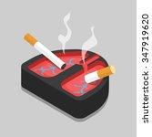 Bad Habit Lungs Ashtray Flat 3...