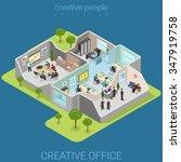 office interior flat 3d... | Shutterstock .eps vector #347919758