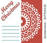 christmas greeting card and... | Shutterstock .eps vector #347924120