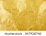 shiny yellow leaf gold foil... | Shutterstock . vector #347928740