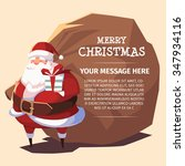 merry christmas santa with... | Shutterstock .eps vector #347934116