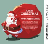 merry christmas santa with red... | Shutterstock .eps vector #347934119